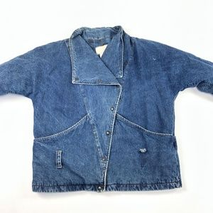 VTG Womens SZ 8 Learsi Denim Jean Jacket Barn Chor